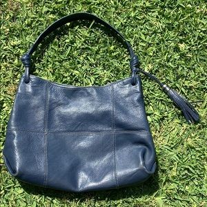 Blue ALFANI 💯 Genuine Leather Hobo Bag